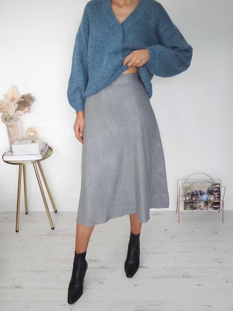 Pennie Plain Skirt - Grey