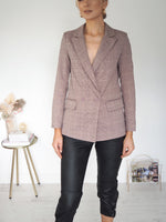 Ellen Deep V-neck Blazer - Purple