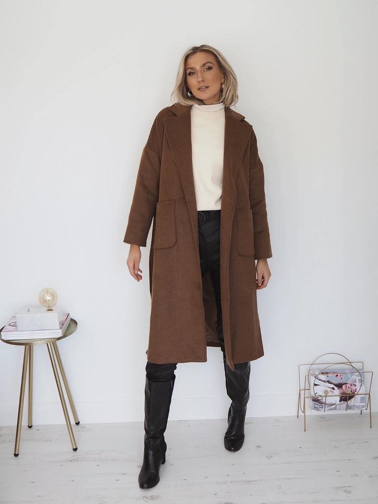 Susie Overcoat - Brown