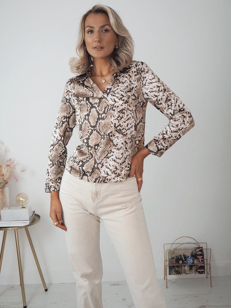 Julia Animal Printed Top