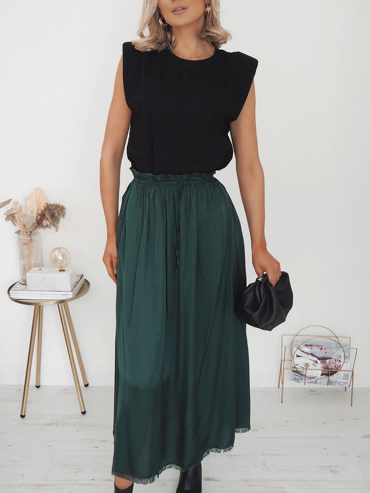 Monica Maxi Skirt - Green