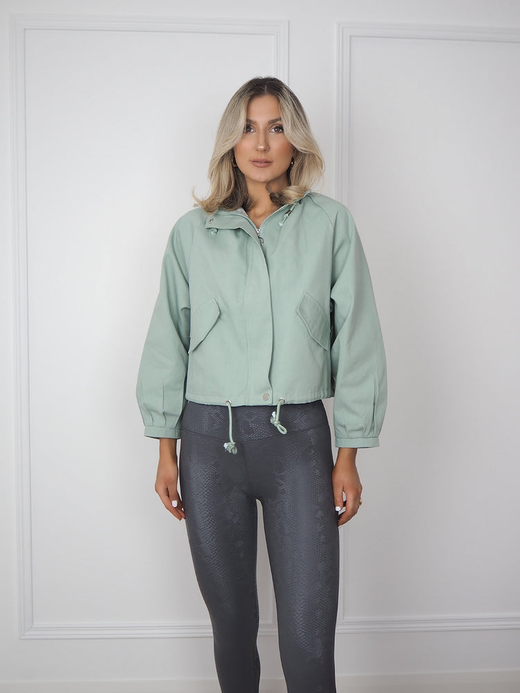 Sage Green Lightweight Parka Jacket