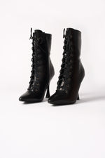 Lace-Up Stiletto Boots