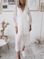 Eva White Star Midi Dress