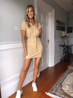 Tara Shirt Dress - Beige