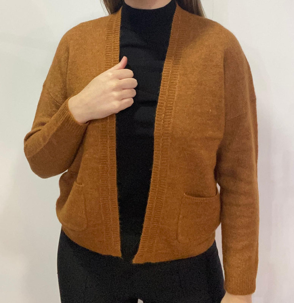Sophia Knit Cardigan with Pockets - Camel
