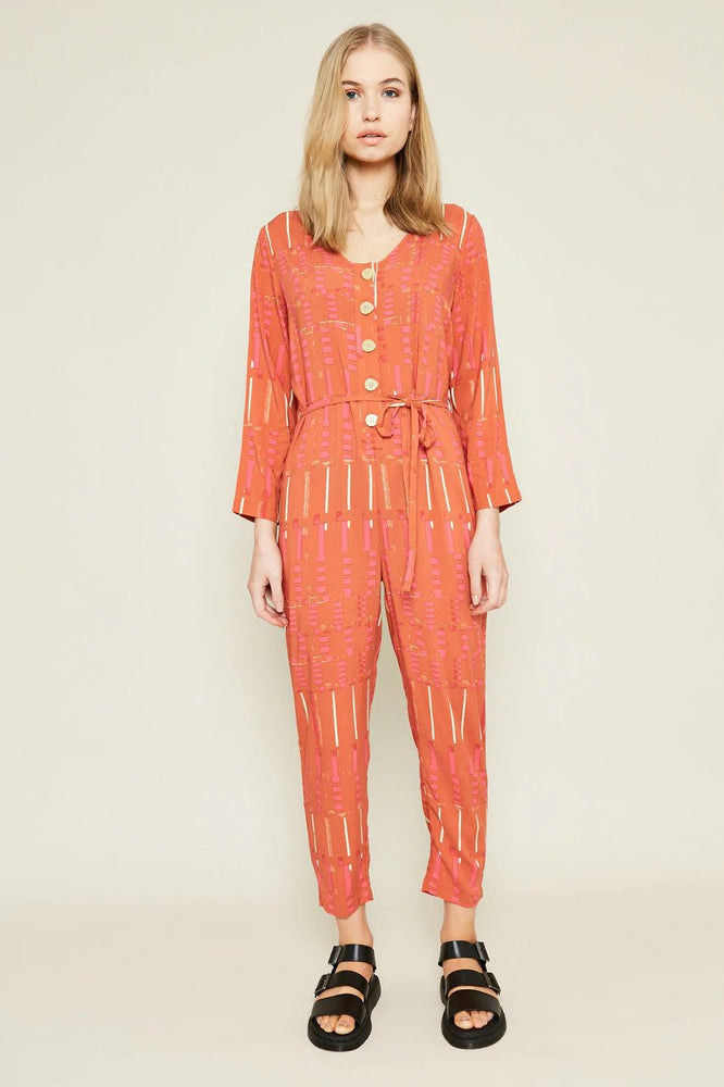 Mackenzie Printed Loose Fit Jumpsuit