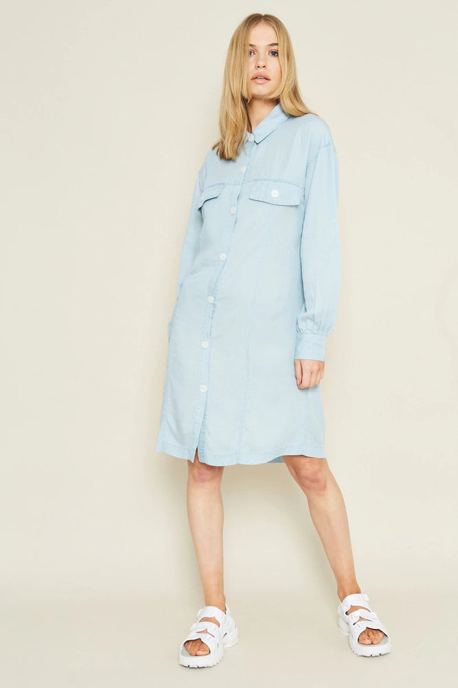 Niamh Shirt Dress in Denim Tencel