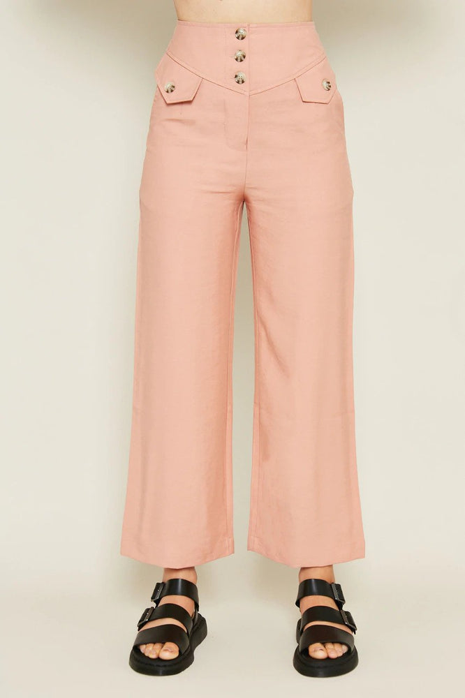 Sonja High Waist Button-up Pants