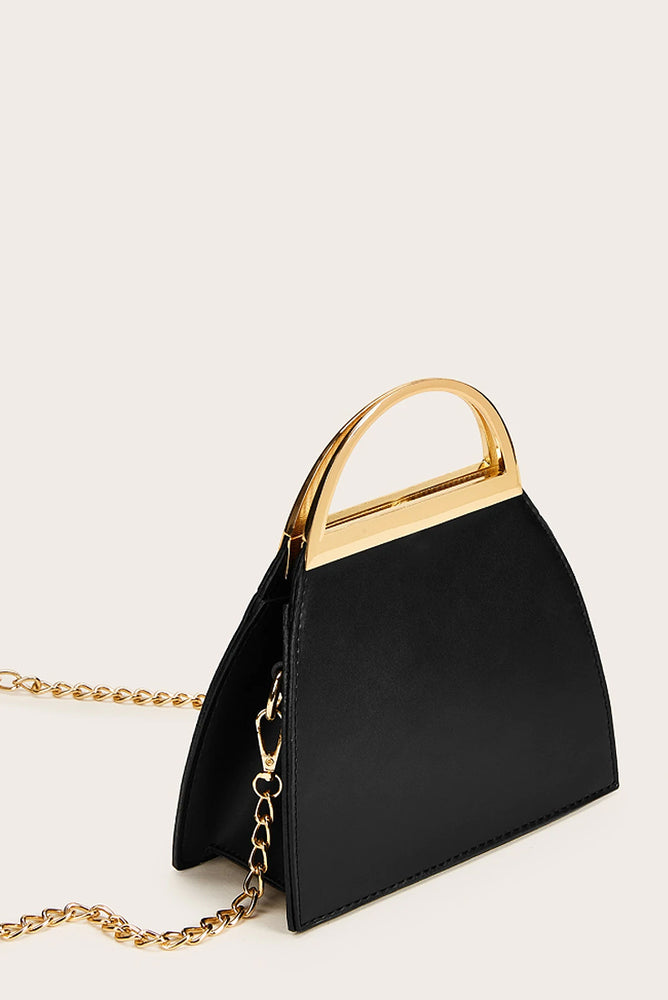 Gold Accent Top Handle Bag