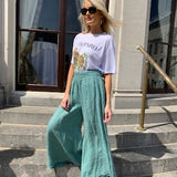 Palazzo Trousers - Green