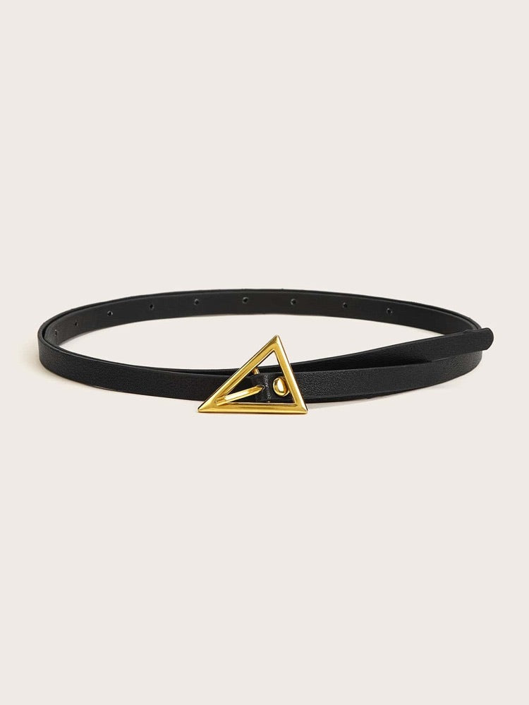 Triangle shaped buckle Belt