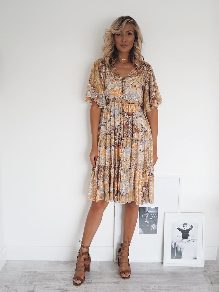 Aideen Print Dress