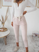 Ivanka Trouser with Belt - Pink