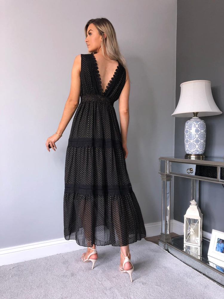Julia Sheer and lace dress