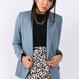 Sky Blue Relaxed Blazer