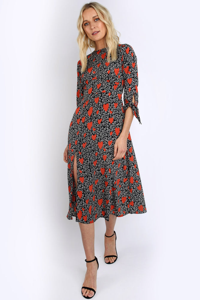 Harper Heart Midi Dress