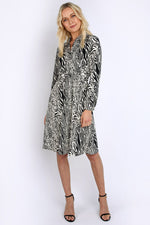 V-neck Animal Print Dress