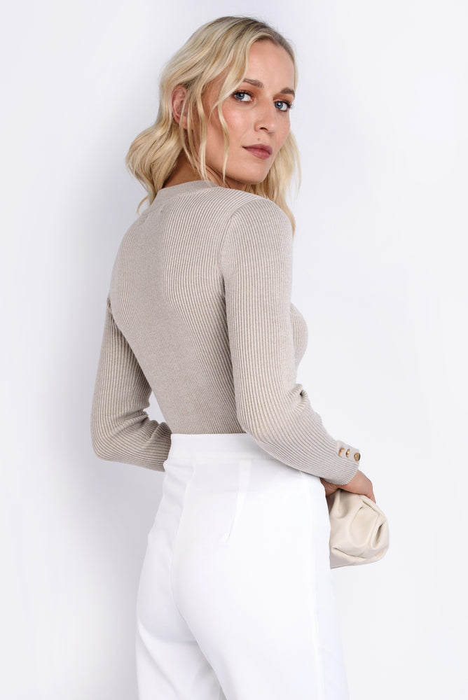 Stone Ribbed Jumper