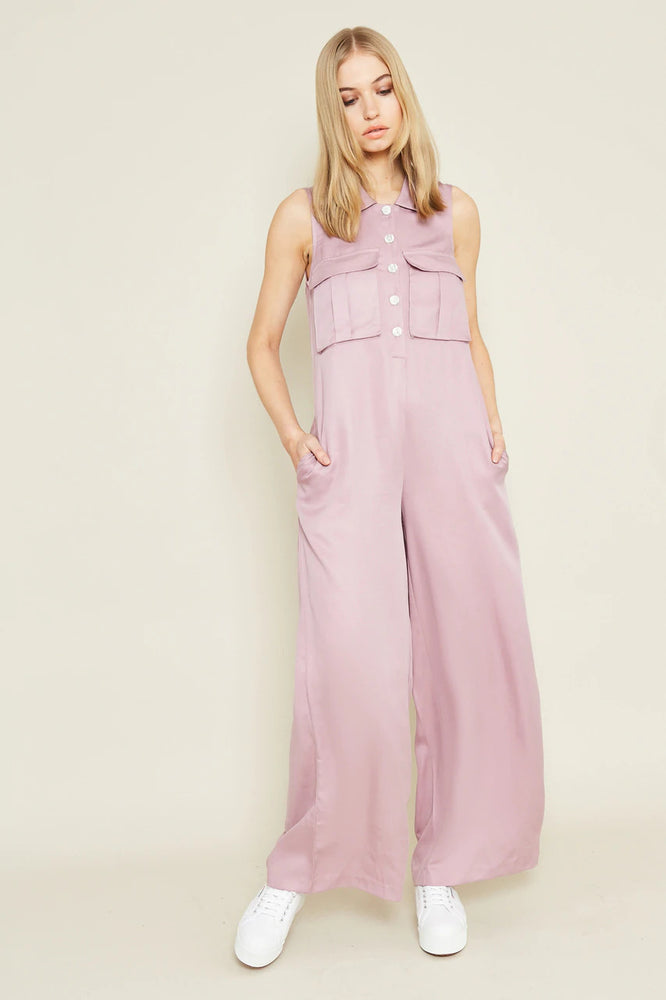 Dora Loose Fit Jumpsuit with Collar