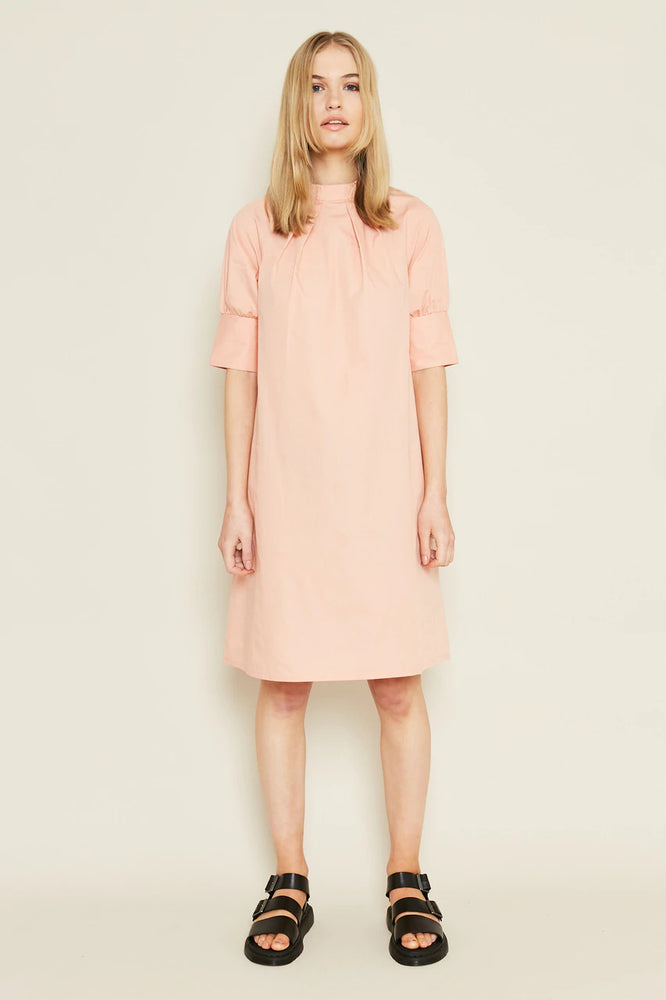 Emma Shift Dress Shape with Pleated Neck Line