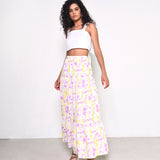 Norah Pink and Yellow Art Maxi Skirt