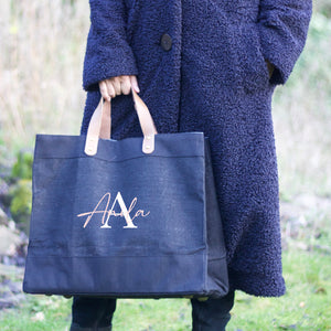 Black Jute Bag - MonoName