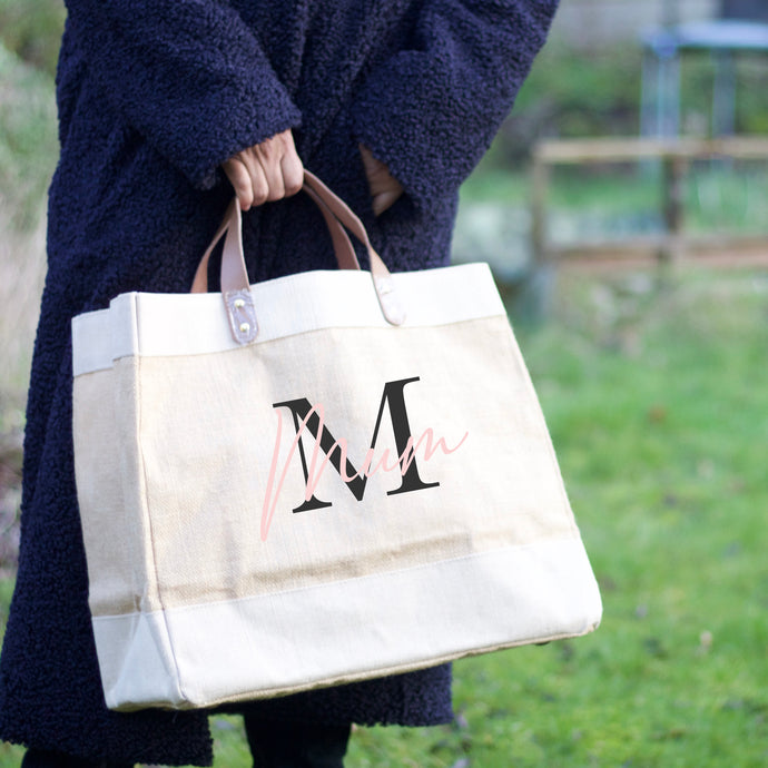 Natural Jute Bag - MonoName