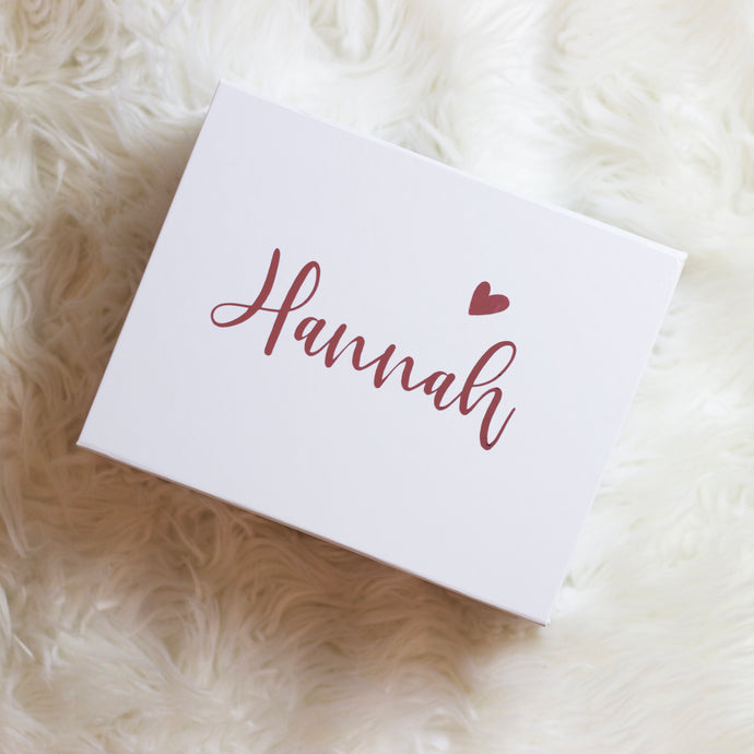 Name & Heart Proposal Box
