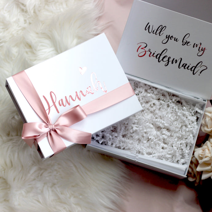 Personalised Rose Gold Proposal Kit