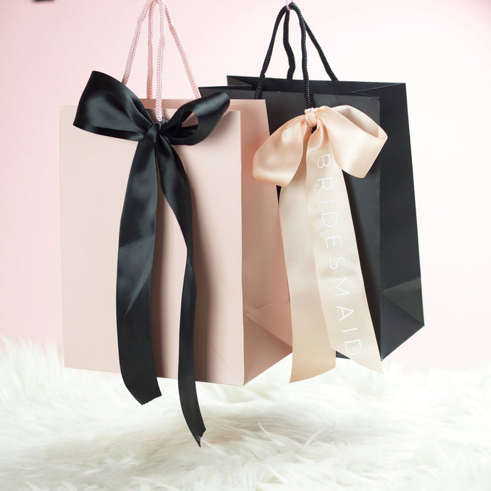 Gift Bags with Personalised Ribbon