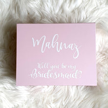Load image into Gallery viewer, Pink Bridesmaid Proposal Box