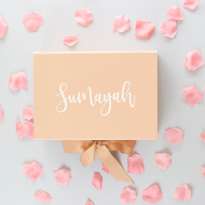 Luxury Rose Gold Proposal Box