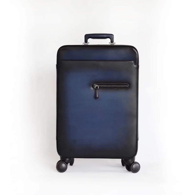 Leather Luggage on Wheels