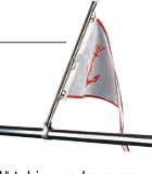 Seadog PULPIT FLAGPOLE Formed 304 Stainless