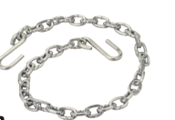 "Seadog SAFETY CHAIN WITH ""S"" HOOKS Zinc Plated Steel"