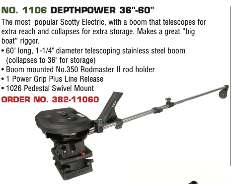 "Scotty Electric NO. 1106 DEPTHPOWER 36""-60"""