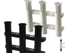 Seadog THREE POLE WALL MOUNT ROD HOLDER