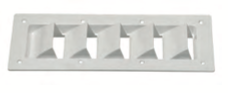 Detmar White LOUVERED VENT