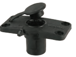 Scotty No. 244L LOCKING FLUSH DECK Mount with splash cover