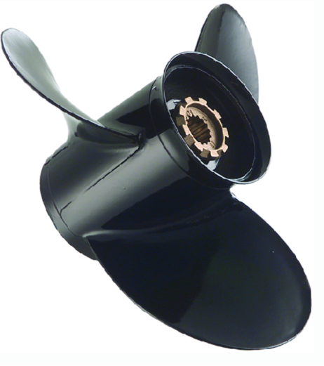 "Quicksilver Black Diamond Outboard/Sterndrive Aluminum Propeller 3 Blade RH With 4-3/4"" Gearcase"