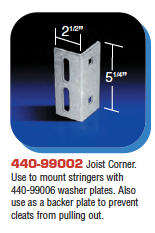 Floating Dock Hardware - Joist Corner