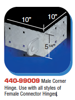 Floating Dock Hardware - Male Corner Hinge