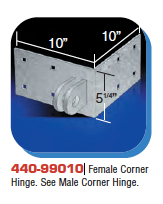 Floating Dock Hardware - Female Corner Hinge.