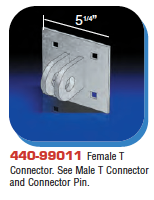 Floating Dock Hardware - Female T Connector