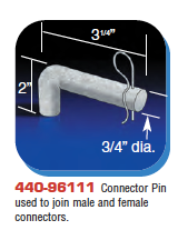 Floating Dock Hardware - Connector Pin