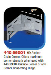Floating Dock Hardware - HD Anchor Chain Corner