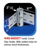 Floating Dock Hardware - Inside Corner Pipe Holder.
