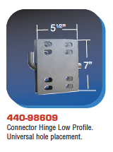 Floating Dock Hardware - Connector Hinge Low Profile. Universal hole placement.