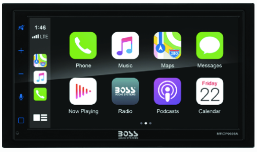 Boss Audio MRCP9685A Bluetooth Double-Din MP3 Digital Media Touch Screen AM/FM Receiver